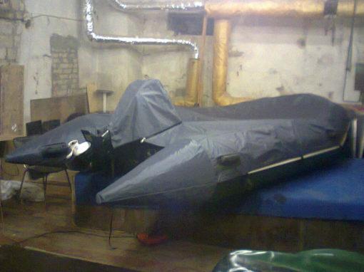 Изготовление индивидуального чехла-покрывала на надувную лодку с мотором