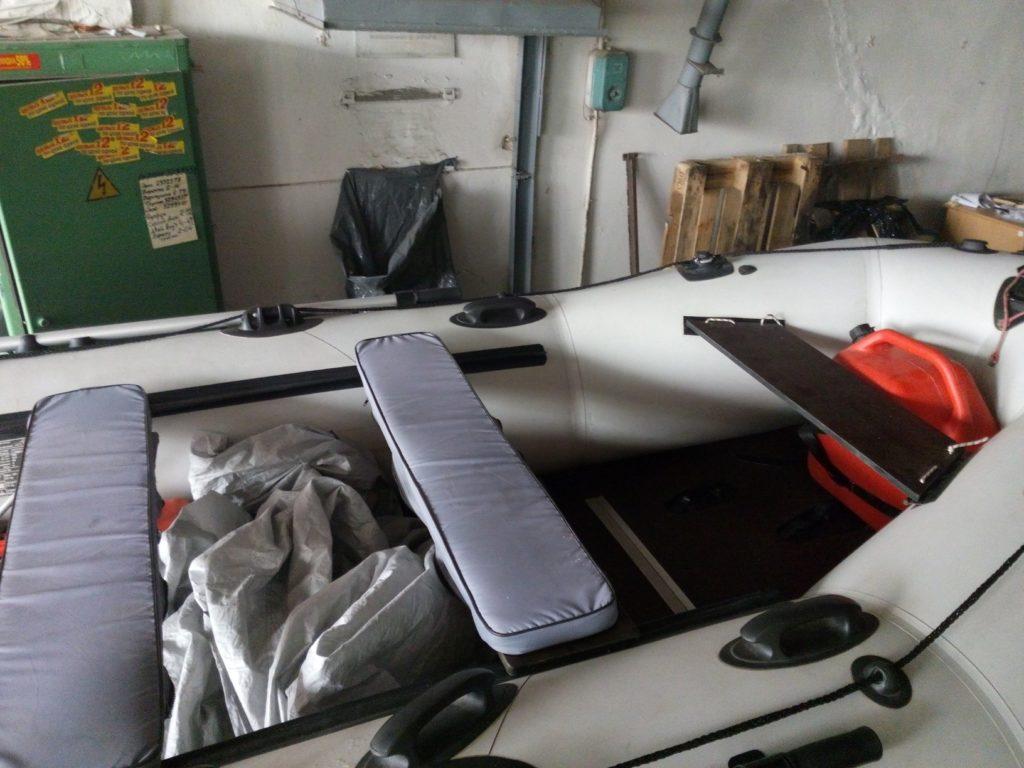 Мягкие накладки на сиденье в лодке
