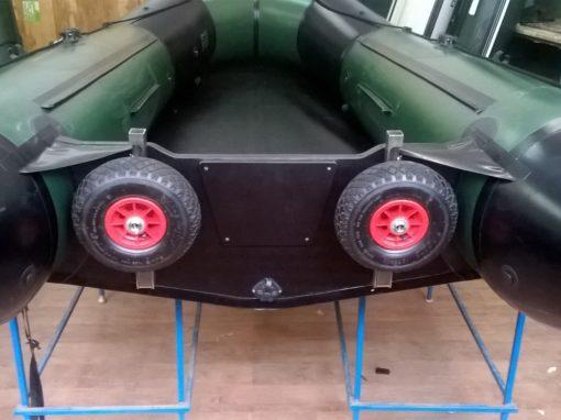 Установка транцевых колес